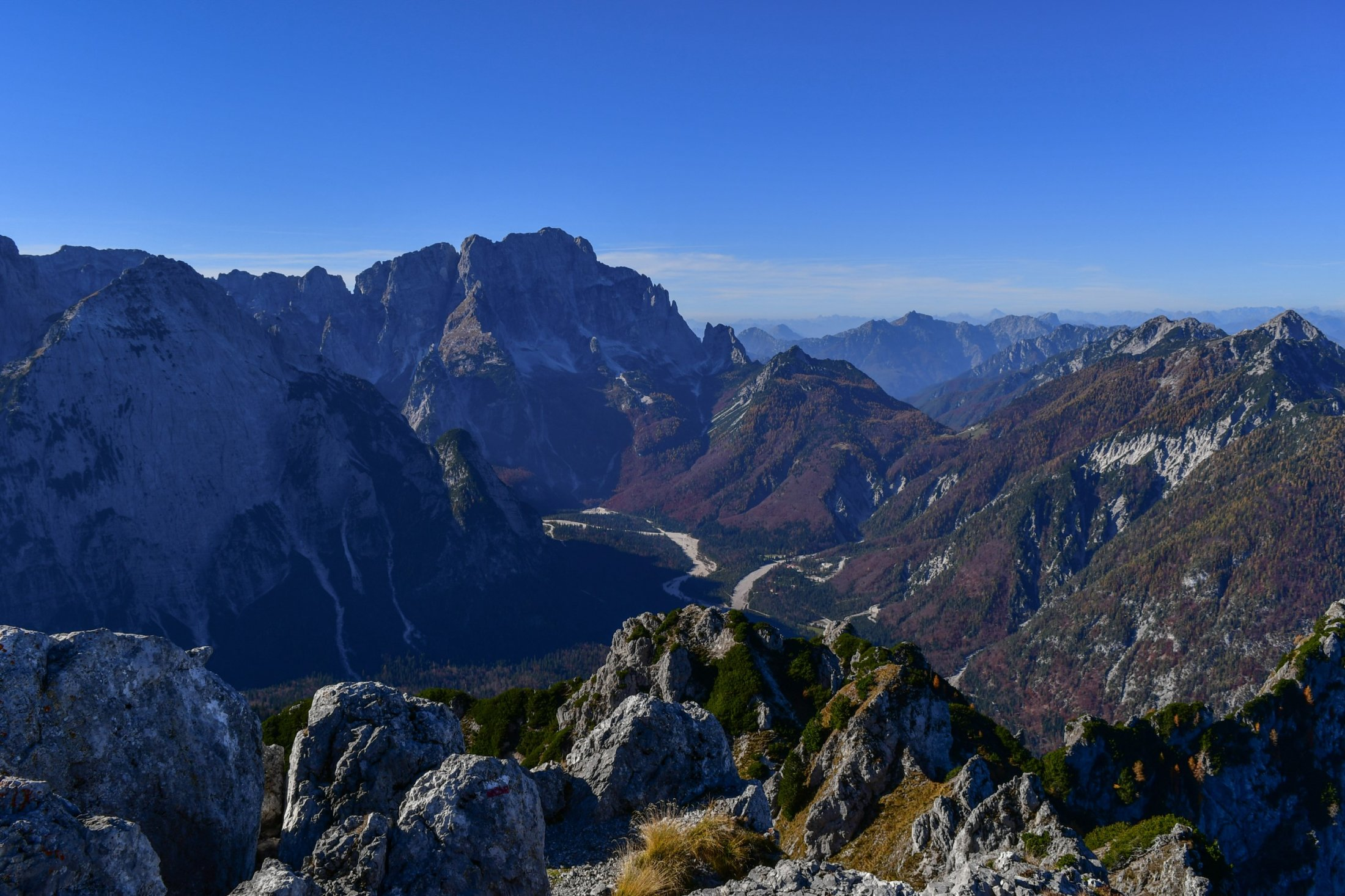 Blick in das Val Saisera