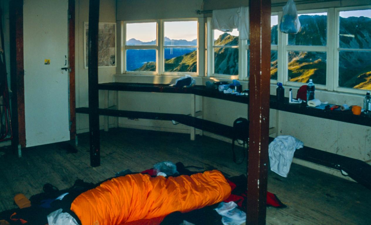 Schlafplatz in der Skihütte