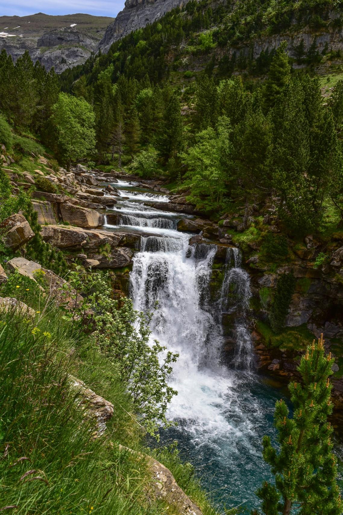 Wasserfall in der Ordesa-Schlucht