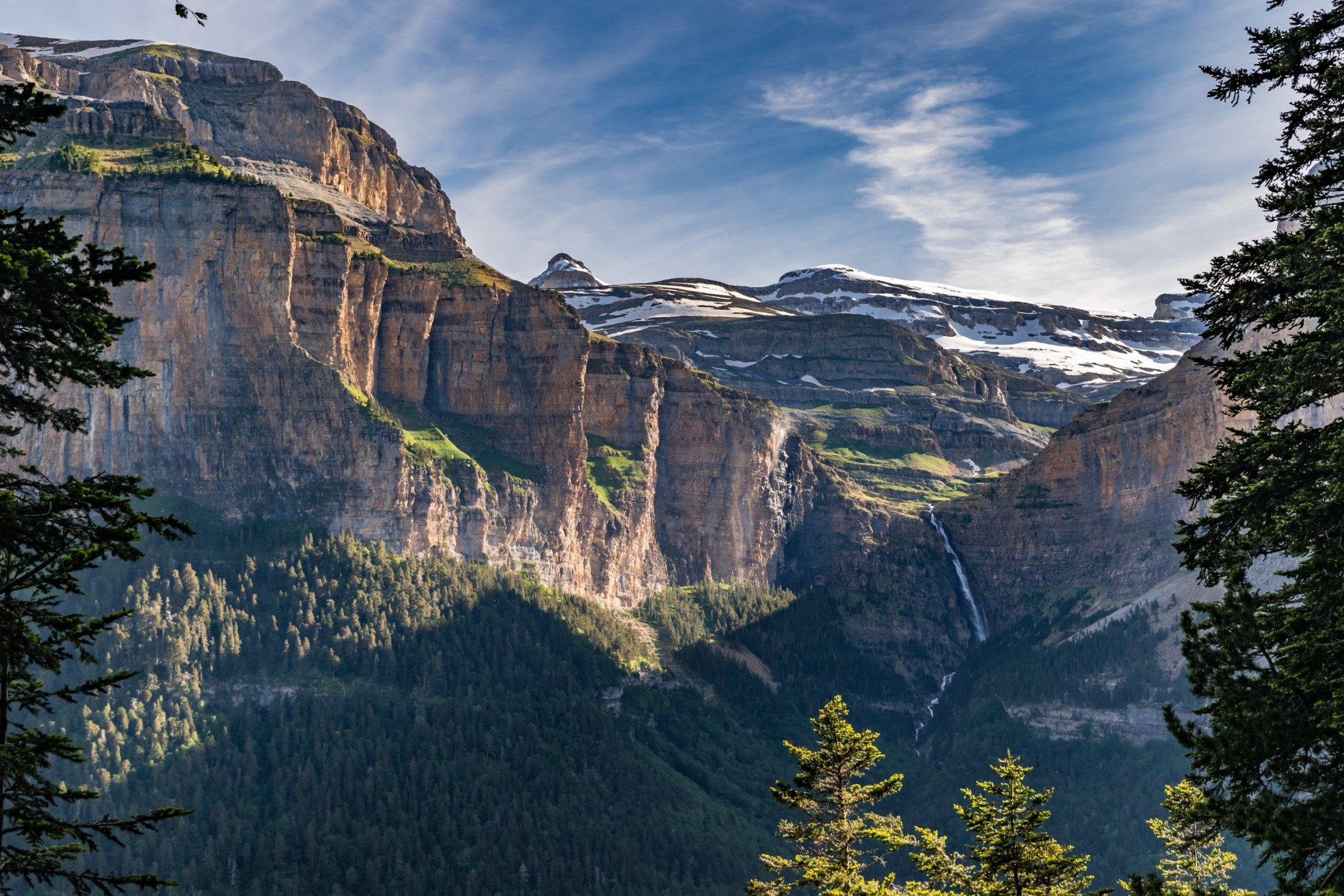 Waterfall in Ordesa Canyon