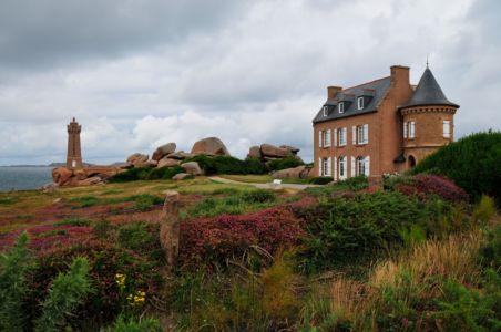 Lighthouse of Ploumanach, Granite coast, Brittany