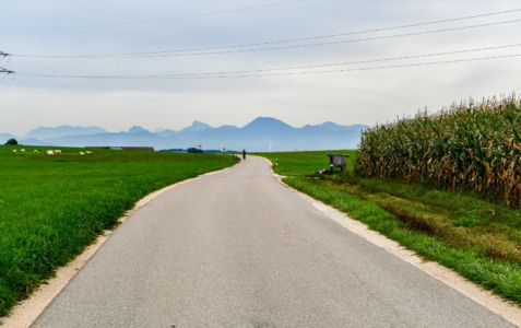 Radweg Richtung Traunstein