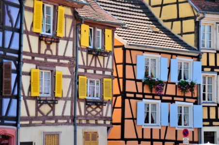 Coloured  half-timber Houses in Colmar, Alsace