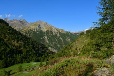 Rückblick zum Aostatal