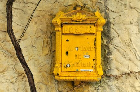 Ancient Post box in France