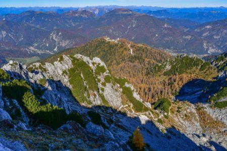 Blick auf den Aufstiegsweg