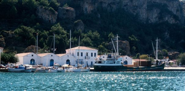 Fishing harbour on Samos