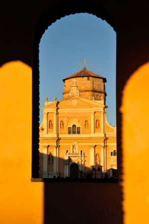 Cathedral in Carpi before the last earthquake