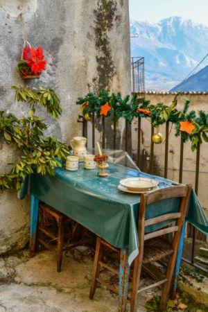 Gedeckter Tisch in Morano Calabro
