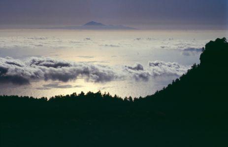 Pico del Tejde seen from Cumbre Vieja on La Palma