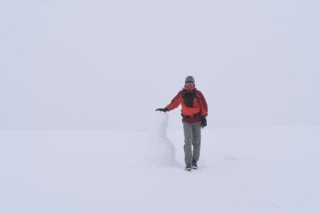 Gipfel gefunden, dank Schneemann