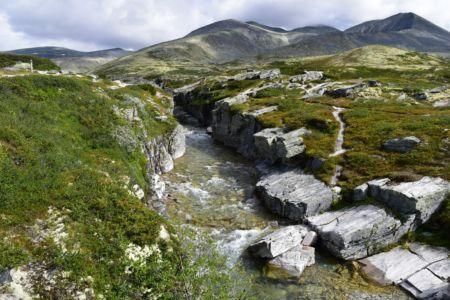 Fluss bei der Peer-Gyntt-Hütte