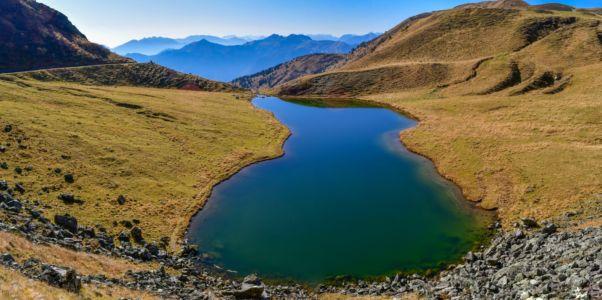 Lago Dimon unterhalb des Monte Paularo