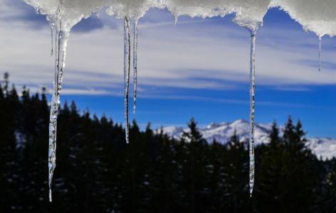 Eiszapfen an der Dürrnbachhütte