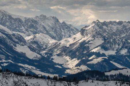 Skiing at Untersberghorn in Austria