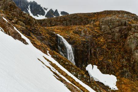 Schneefeld im Aufstieg