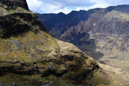 Abstieg ins Glen Coe