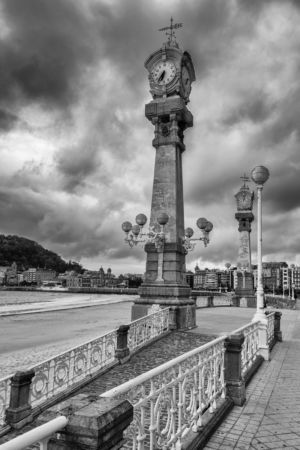 Clock Tower in San Sebastian