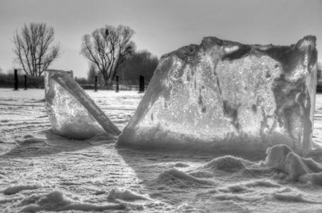 Eisberge im Chiemsee