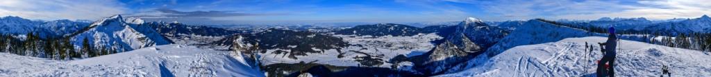 360 Grad Panorama vom Streicher im Chiemgau