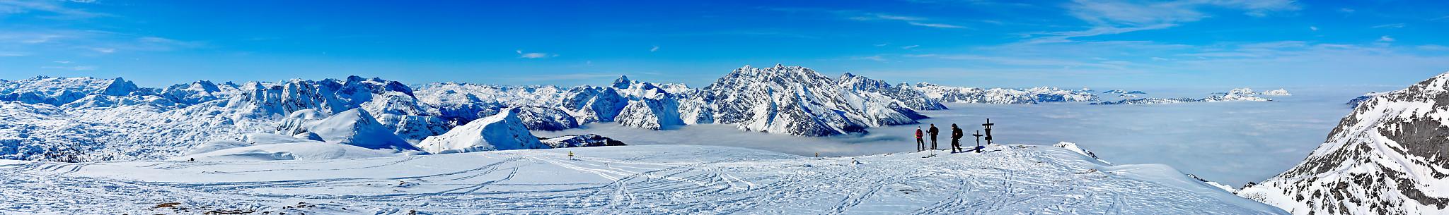 Panorama vom Schneibstein in den Berchtesgadener Alpen