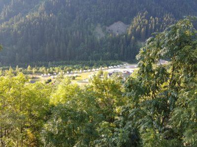 Wohnmobilstellplatz in Strepeis, kurz nach Bagni di Vinadio