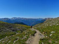 Wanderweg kurz vor dem Pass