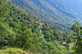 Rückblick auf die Auffahrt zum Rifugio Migliorero