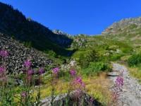 Auffahrt zum Lago Lansfero