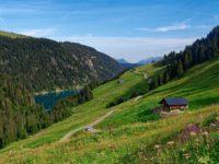 Rückblick zum Lac de Saint-Guérin