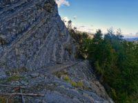 Abfahrt in Steilwand