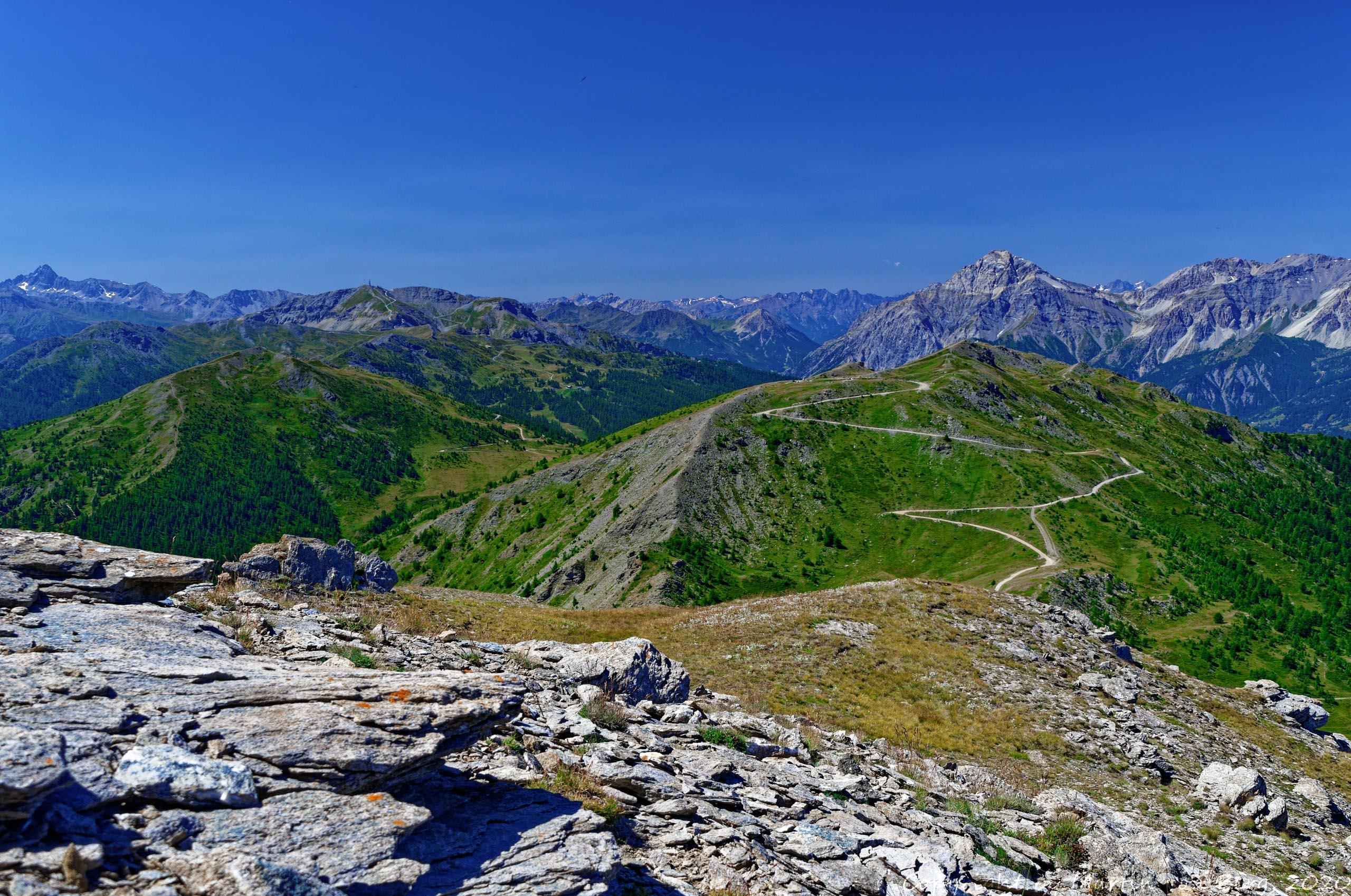 Blick vom Monte Blegier auf den Chaberton