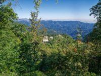 Blick auf das Santuario di Valmala