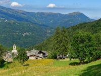 Dorf Sant'Anna in der Abfahrt