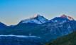Grande Motte und Grande Casse im Morgenlicht, kurz nach dem Aufb