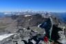 Madonna auf dem Gipfel, Mont Blanc im Hintergrund