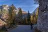 Berge, Herbst, Mangart, Slovenia, Slowenien, Strasse, Wald, autumn, forest, lärche, mountainbike, mountains, street