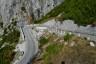 Berge, Felsen, Herbst, Mangart, Slovenia, Slowenien, Strasse, autumn, cliff, felswand, gras, grass, mountains, rock, street