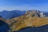 Berge, Felsen, Herbst, Mangart, Slovenia, Slowenien, Strasse, Wiese, autumn, kamm, meadow, mountains, ridge, rock, street