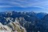 Berge, Felsen, Herbst, Mangart, Menschen, Slovenia, Slowenien, Triglav, autumn, berg, distant view, gipfel, men, mountain, mountains, rock, summit, weitblick