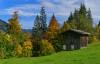 Herbstidylle bei der Abfahrt