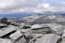 Steinhaufen auf dem Gipfel