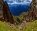 Scharte unterhalb des Gipfels mit Blick auf den Großglockner