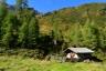 Hütte kurz oberhalb des Fahrradepots (1750m)